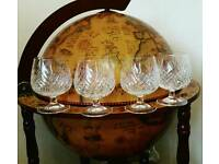 Set of 4 brandy glasses
