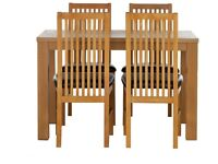 Pemberton Oak Veneer Dining Table & 4 Paris Chairs - Grey