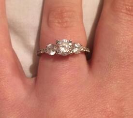 Stunning Triple Stone Ring