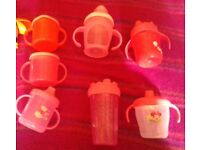 7 x Baby Toddler Tommee Tippee Feeding Bottles Cups