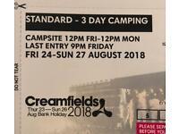 3 day standard camping creamfields ticket