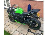 2010 Kawasaki ZX6R Ninja black green