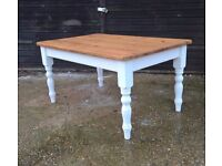 Stunning Solid Rustic Pine Farmhouse Kitchen Table Pantry White Shabby Chic *FREE DELIVERY* (oak)