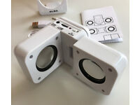 L@@K CUBE SHAPE!!Portable Audio DOCKING Station Stereo SPEAKERS!!4 Mobile phone MP3 Laptop only £5!