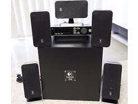 Logitech Z-5450 Digital 5.1 Speaker System POWERFUL SOUND SYSTEM with remote