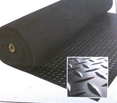 Rubber Sheet Blk 18thk X 7 X 24 Rect Stair Tread Anti-slip Diamond Plate