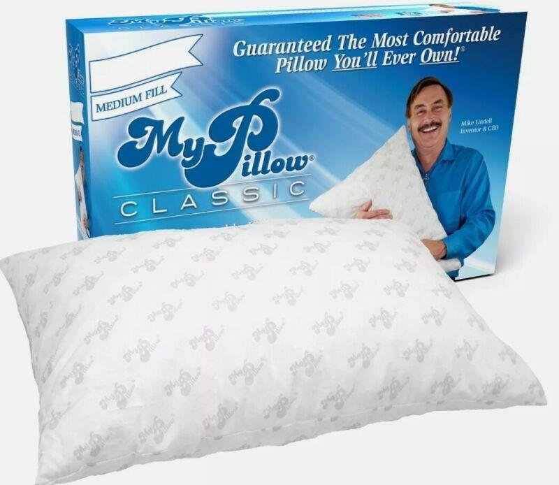 1 x My Pillow Classic Series Bed Pillow medium fill queen size