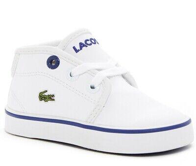 Lacoste Ampthill 316 2 SPI White Blue Kids Baby Infant Toddler Boys Shoes Sizes  Lacoste Infant Shoes