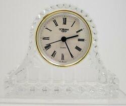 Gorham Small Crystal Quartz Mantle Clock 5