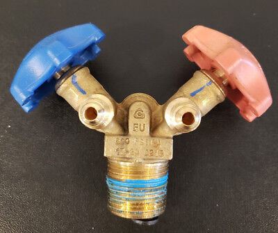 Y-valve For 30 50 Lb. Refrigerant Recovery Tanks Dual Valve Liquidvapor