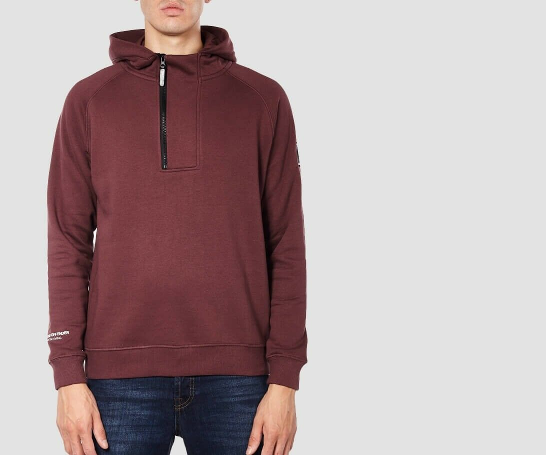 SCONTO 10% WEEKEND OFFENDER FELPA LA MOTTA S M L XL CAPPUCCIO HOODED SWEAT ULTRA