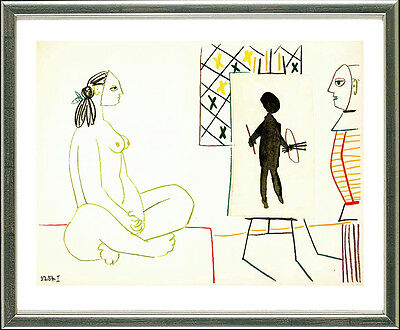 "Pablo Picasso (1881-1973), Maler und Modell. ""3.2.54 I,"" 1954"