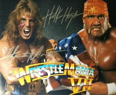 Ultimate Warrior / Hulk Hogan WWE WWF Autographed Signed 8x10 Photo (Hulk Hogan Autographed 8x10 Photo)