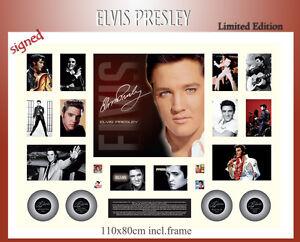 ELVIS-PRESLEY-110X80CM-MEMORABILIA-SIGNED-FRAME-LIMITED-EDTN-499