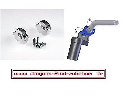 LSL RiseUp Back Set DUCATI Lenkererhöhung Klemmböcke 22mm Lenker Riser