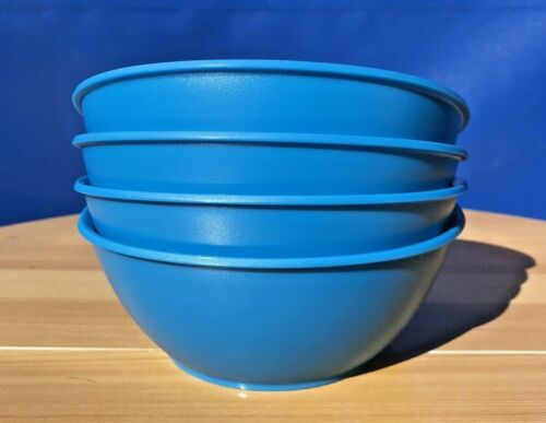 TUPPERWARE MICROWAVE REHEATABLE LEGACY SOUP/RICE/CEREAL BOWL 3Cup/700mil  Blue