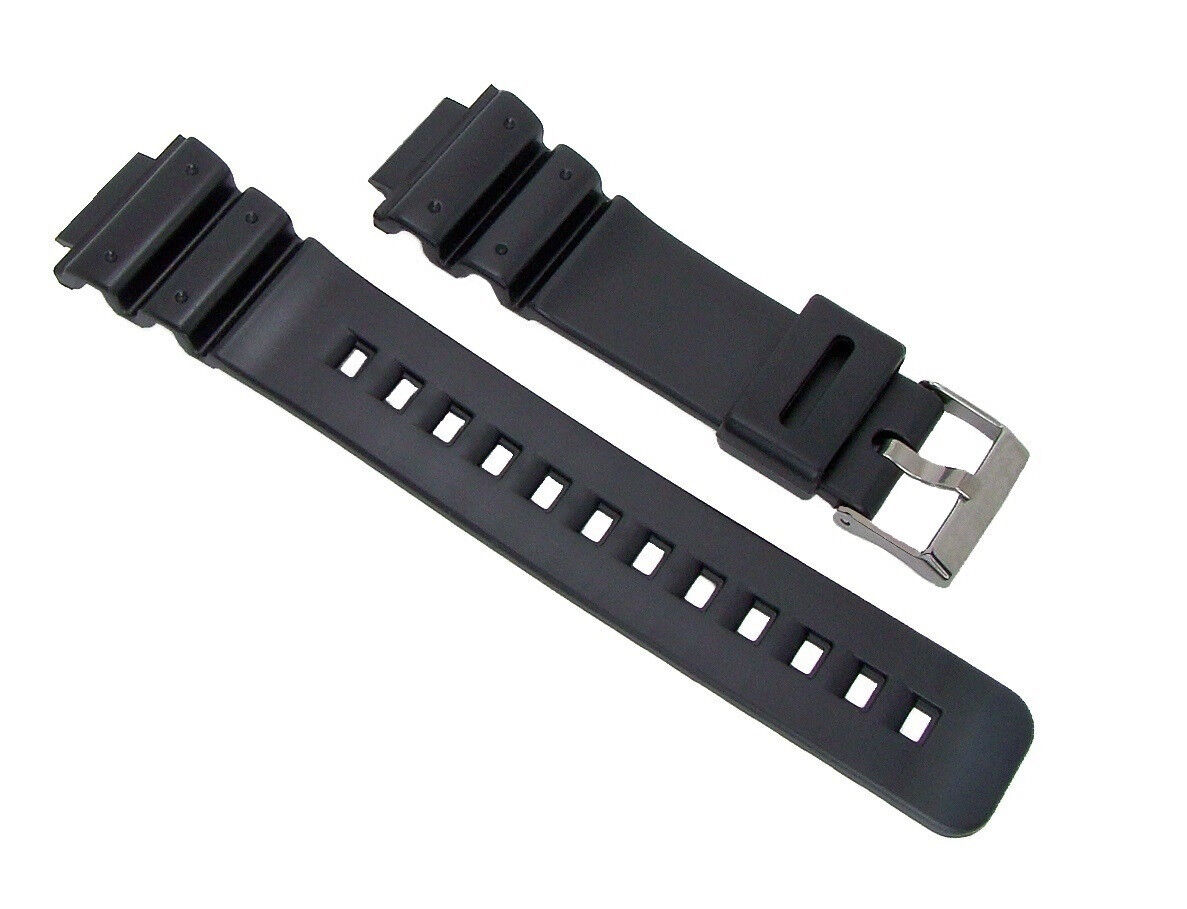 16mm Black Replacement Resin/PVC Watch Band for G-Shock DW69