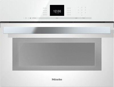 "Miele PureLine SensorTronic DGC66001XLBW 24"" Single Electric Steam Oven White"