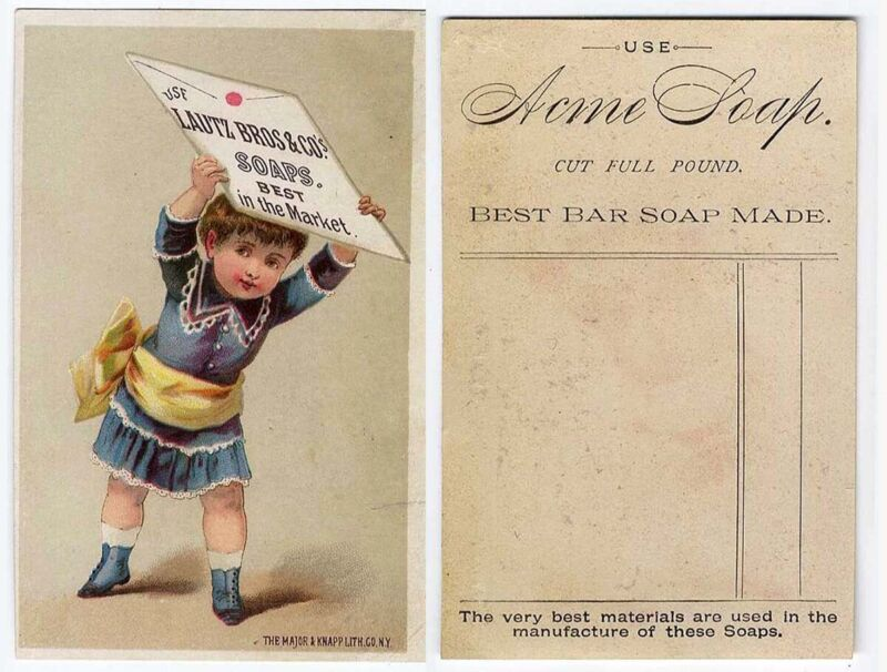 Little Boy LAUTZ BROS ACME SOAP Victorian Trade Card 1880