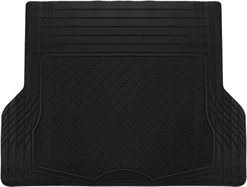 Trunk Cargo Floor Mats for SUV Van Truck All Weather Rubber Black Auto Liners
