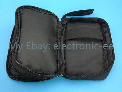 Double Layer Zipper Carrying Case Bag For Multimeters Vc97 Fluke 15b 17b
