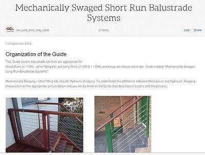 Mechanically Swaged Short Run Balustrade Systems