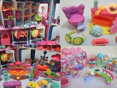 Littlest Pet Shop LPS LOT of 20 Random Pcs Salon & Food Mall Accessories