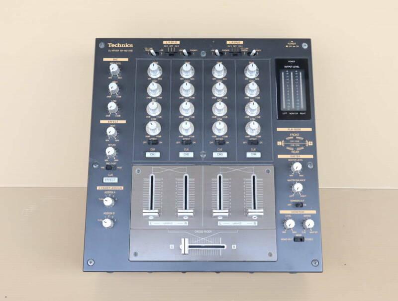 Technics SH-MZ1200 Silver Mixer DJ Player Turntable 4-Channel Black Very Good