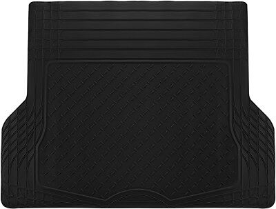 Trunk Cargo Floor Mats for Cars All Weather Rubber Black Heavy Duty Auto Liners