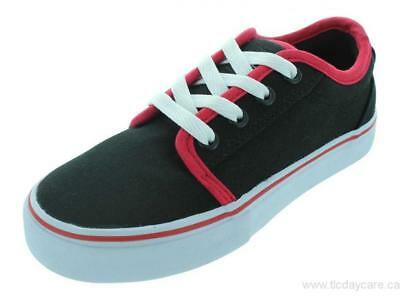 ADIO Youth Sydney (PS) Skate Shoes Black Red Size 1 M US Little