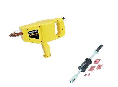 Stud Gun Welder Auto Body Repairdent Ding Puller Kit W 2 Lb Slide Hammer