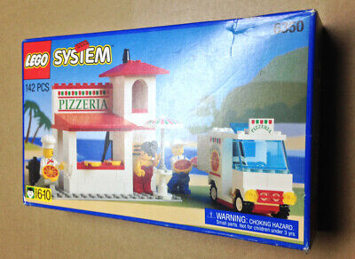VINTAGE 1994 ORIGINAL LEGO 6350 PIZZA TO GO RESTAURANT & DELIVERY TRUCK - NEW