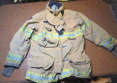 Lion Janesville Firefighter Fireman Turnout Gear Jacket Size 44.35.l - C Af1