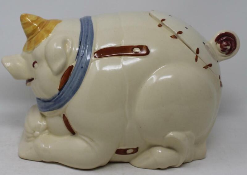 Puritan Pottery Pig Cookie Jar with Oiler