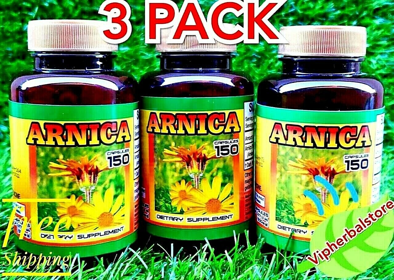3 Packs ARNICA 450 Capsules 500 mg each Support Anti-inflammatory Support Aches