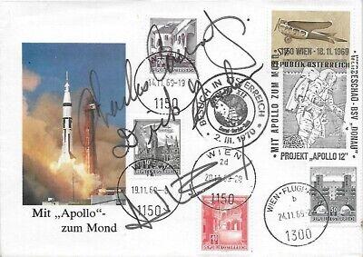 APOLLO 12 CREW SIGNED COVER - SIGNED BY FULL CREW: CONRAD BEAN GORDON
