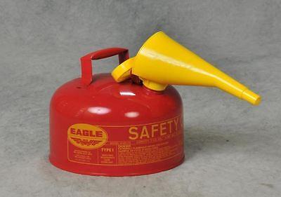 Eagle 2-gallon Metal Gasoline Can Red Gas Fuel Tank Steel New Pour Spout Liquids