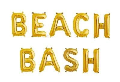 BEACH BASH Letter Balloons - 16