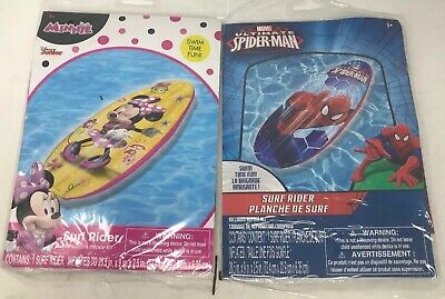 Disney Princess Pool Party (Lot Of 2 Inflatable Toys Disney Pool Party Spider-Man Minnie)