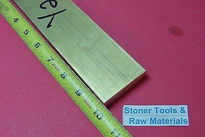 12 X 2 C360 Brass Flat Bar 10 Long Solid .500 Plate Mill Stock H02