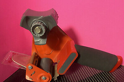 Red Scotch Tape 3m Dispenser Hand Held Packing Tape Gun 2 Roll Good Condition