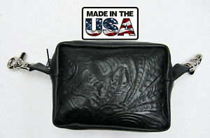 Hip Clip Purse Bikers Body Belt Loop Bag Genuine Leather Small Pouch bf903