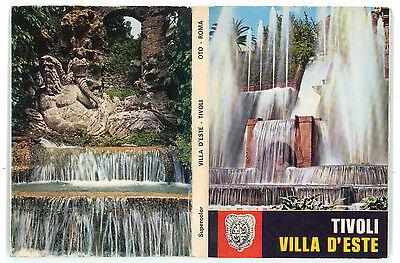 TIVOLI VILLA D'ESTE ALBUM 14 CARTOLINE A SOFFIETTO ALTEROCCA ANNI '70 ROMA LAZIO