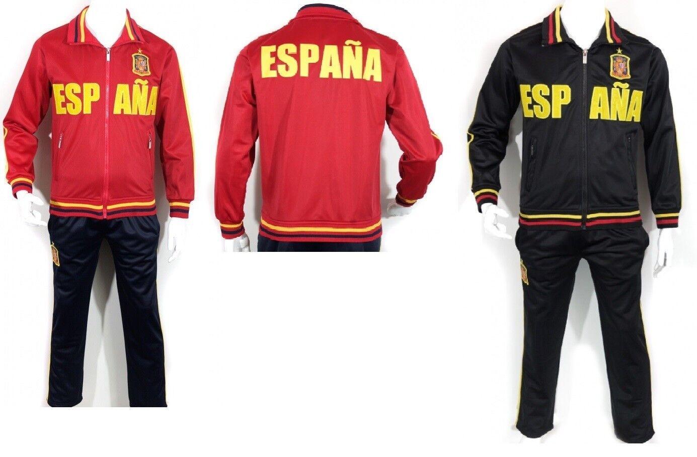 Kinder Jungen Jogginganzug Trainingsanzug Hose Jacke set Spanien Espana Spain