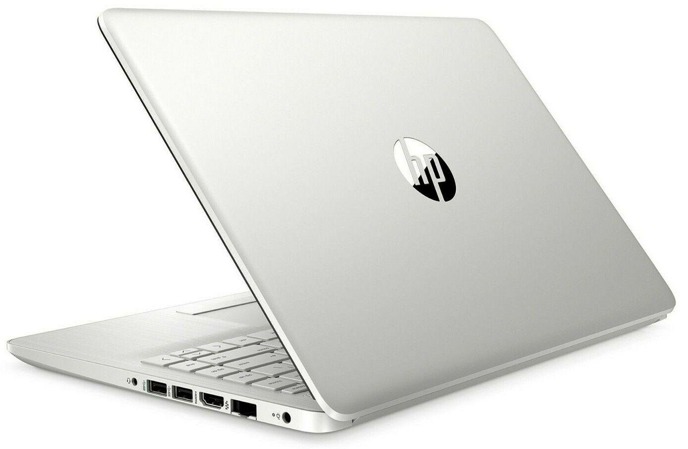 "NEW HP 14"" FHD Laptop AMD Ryzen 3 3.5GHz 128GB SSD 4GB RAM Windows 10 Silver"