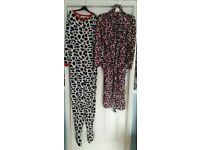Dressing gown + onesie (size 10-12)