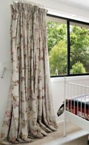 2 x sets double block out curtains