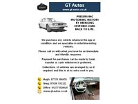Interesting and older vehicles WANTED, Payment by Cash or Bank Transfer