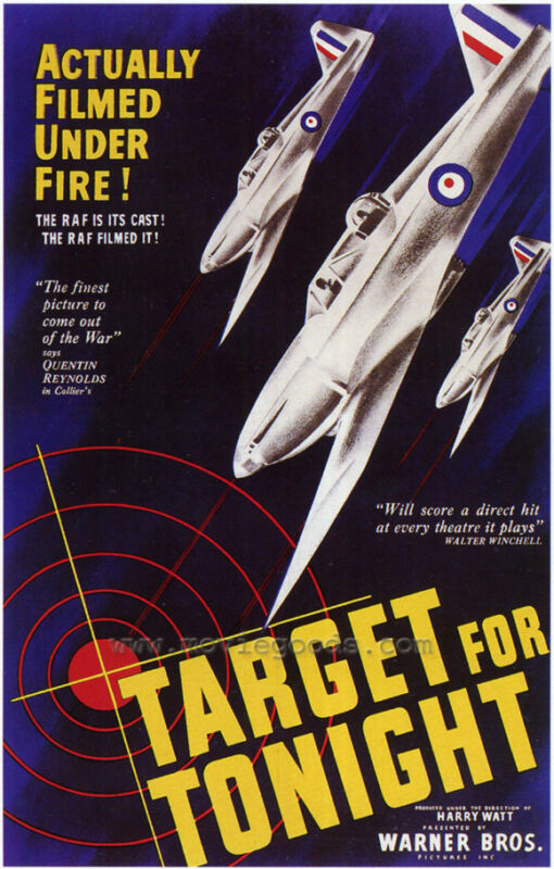 TARGET FOR TONIGHT Movie POSTER 27x40