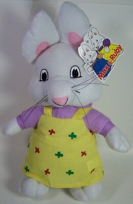 "NEW W/TAGS RUBY 14"" PLUSH DOLL RABBIT BUNNY STUFFED FROM MAX & RUBY EASTER"